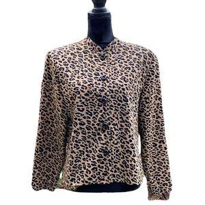Vintage size 14  Cheetah Jacket